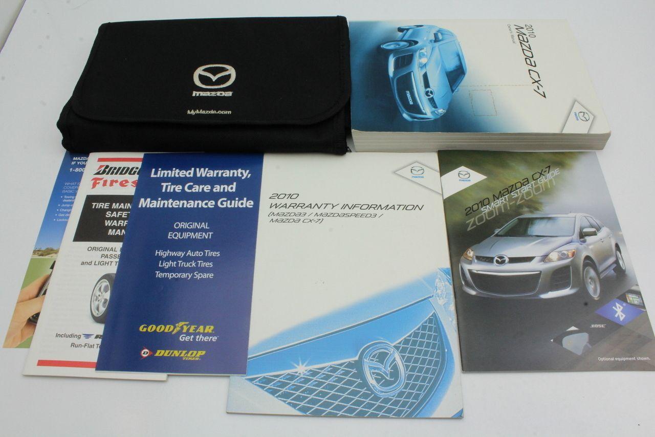10 Mazda Cx 7 Vehicle Owners Manual Handbook Guide Set Mazda Cx 7 Mazda Owners Manuals