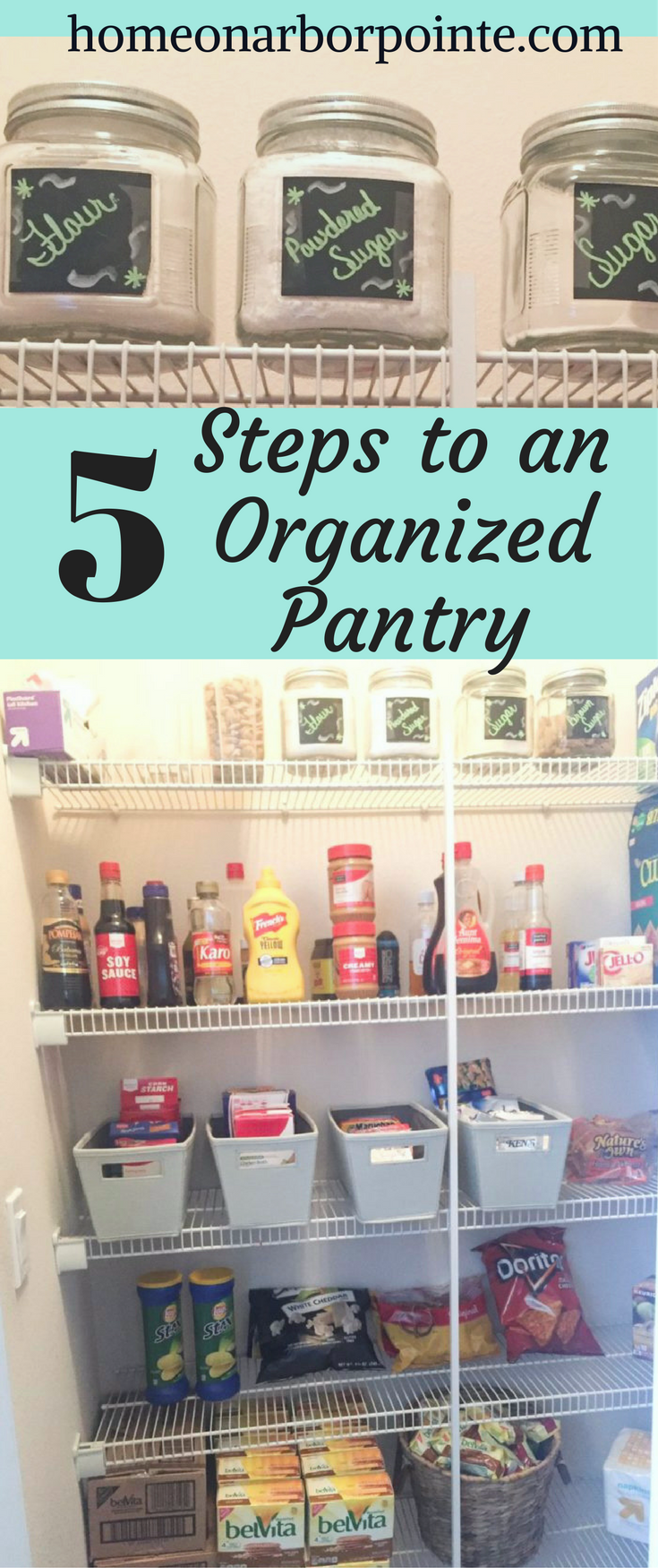 How to Organize a Pantry- and Keep it Organized with Teenagers in ...