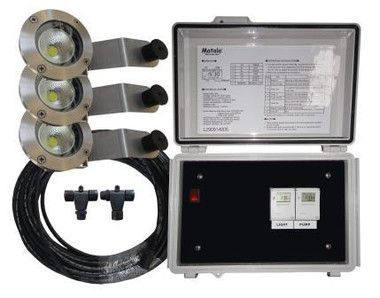 Matala 3 LED Light Kit for 1/3 HP Floating fountain w/ control panel.