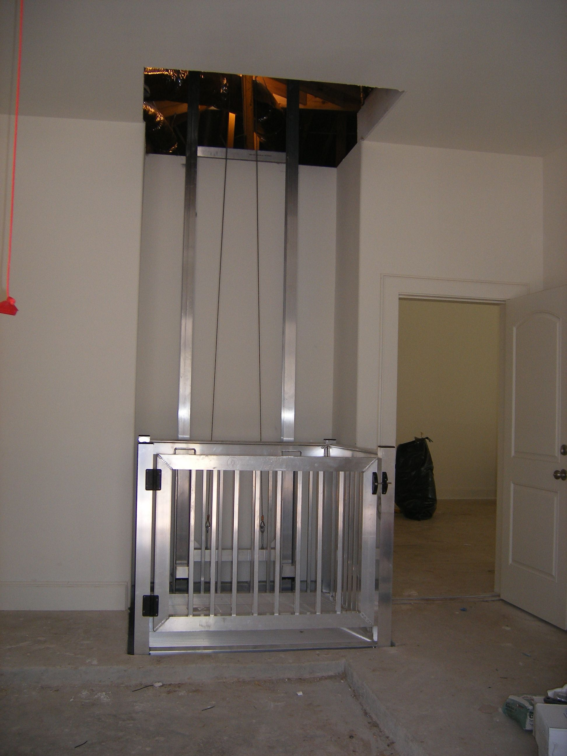 Garage to attic legacy lifts 800 597 5438 cargo lifts for Diy home elevator plans