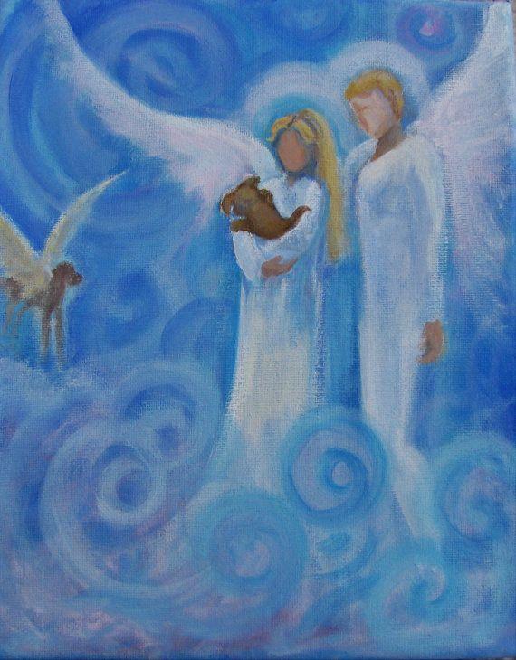 Original Acrylic Spiritual Painting Healing Energy by BrydenArt