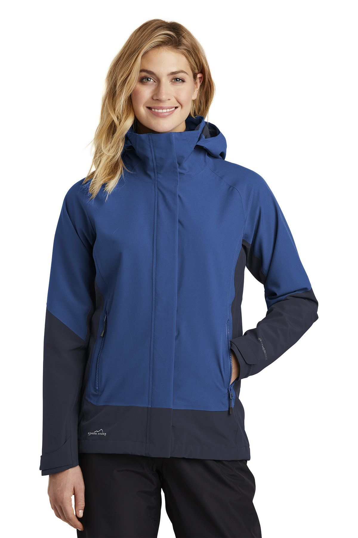 Eddie Bauer Ladies WeatherEdge Jacket EB559 Cobalt Blue