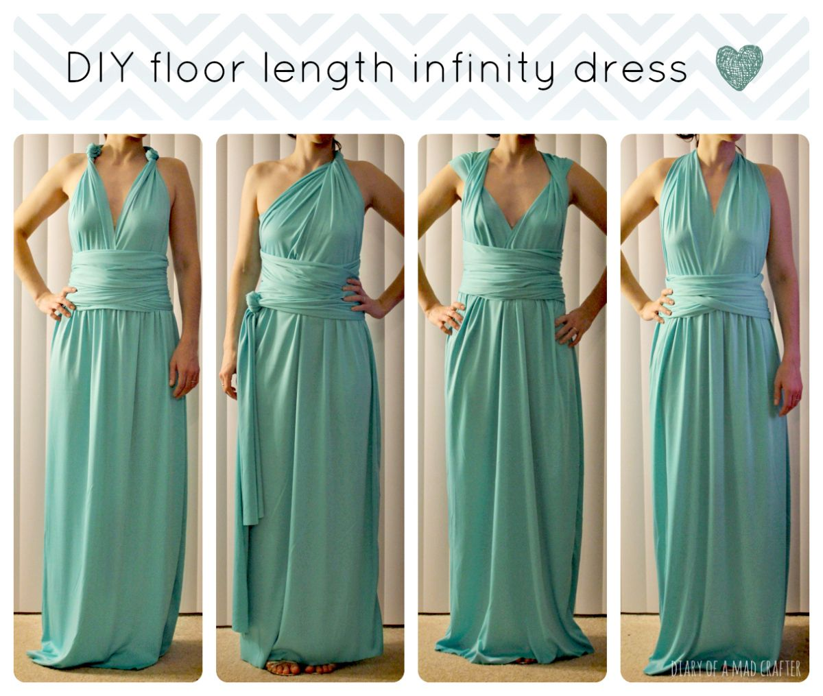 DIY Floor Length Infinity Dress | Infinity, Mad and Dress tutorials