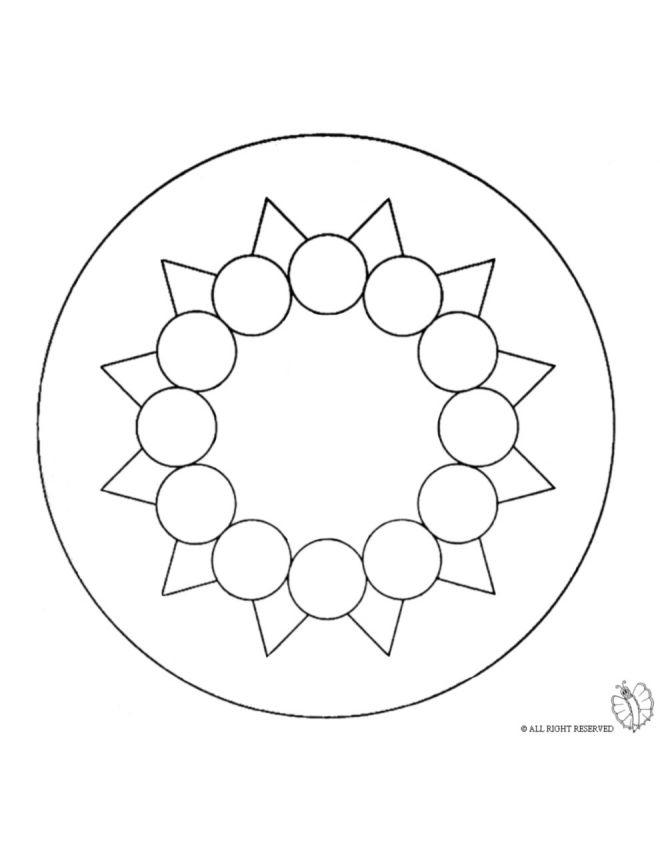 Disegno Mandala 9 Disegni Da Colorare E Stampare Gratis Per