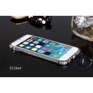 Luxus Glänzende Diamanten Metall Rand Handyhülle für iphone 6 und iphone 6 plus
