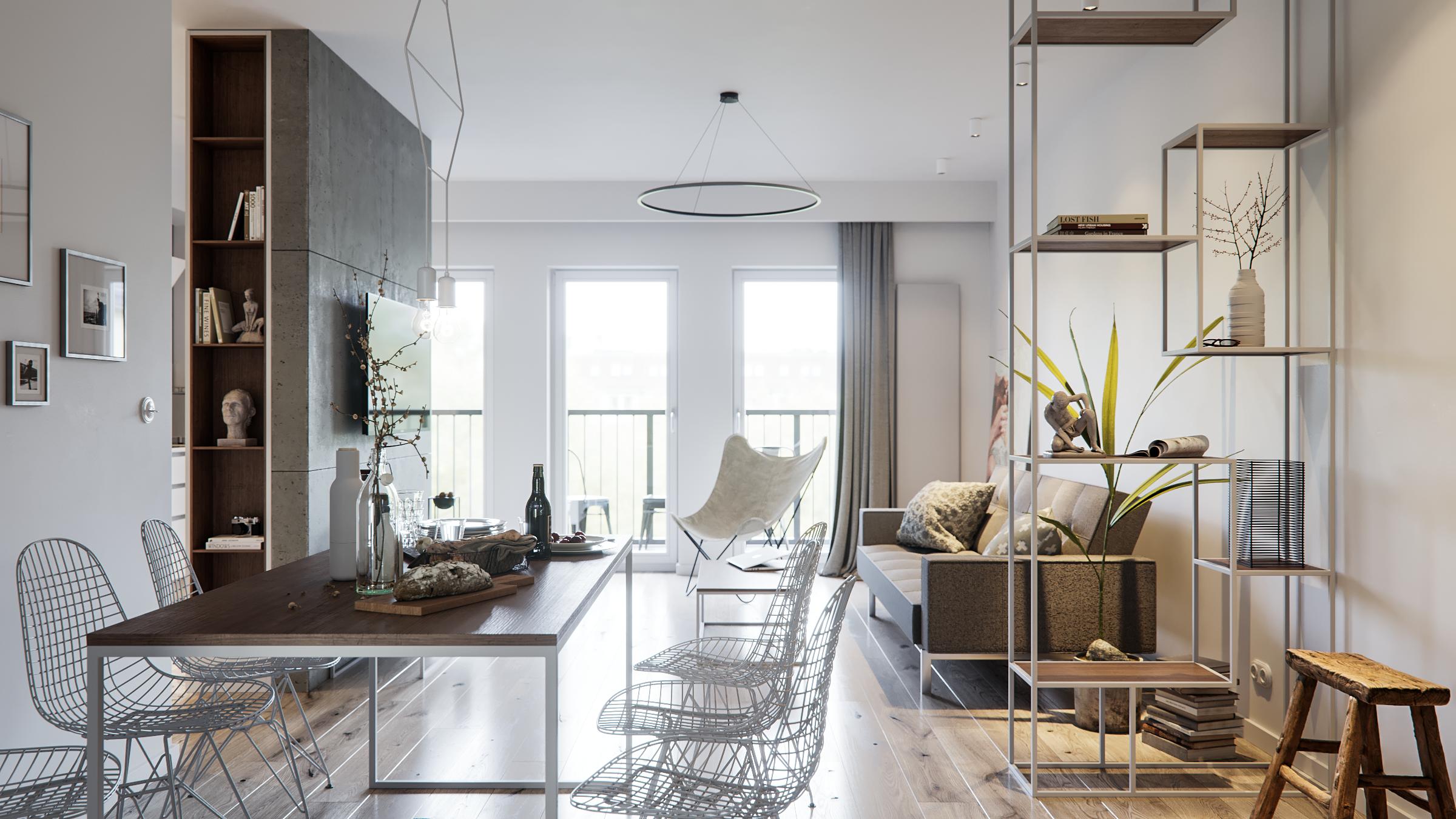 Lodz White Apartment on Behance House design, White