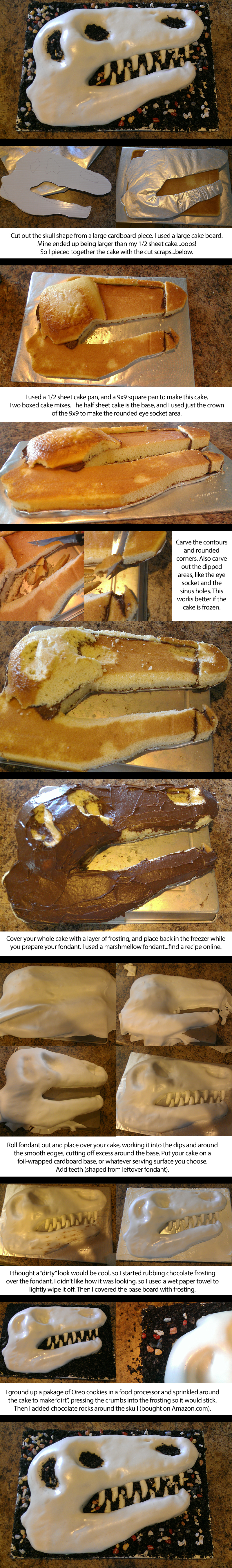 dinosaur birthday cake, Tyrannosaurus rex cake