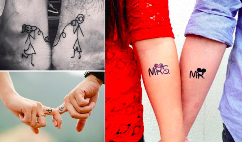 18 tatouages pour les couples astuces f minines. Black Bedroom Furniture Sets. Home Design Ideas