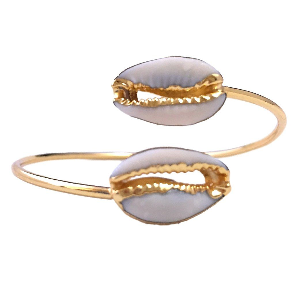 Cowrie Shell bangle - Gold plated
