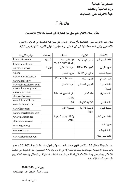 هيئة الإشراف على الانتخابات هذه هي وسائل الإعلام التي يحق لها المشاركة في الدعاية والإعلان الإنتخابيين Sheet Music Music