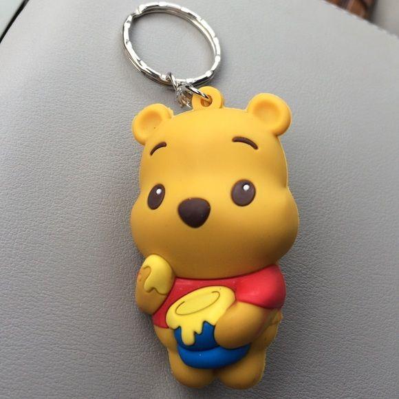 Winnie the pooh various designs bear keyring