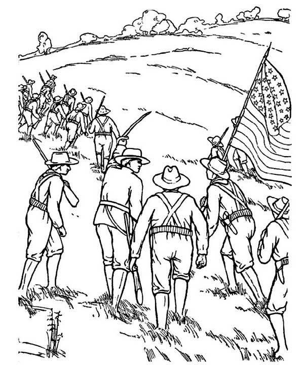 childrens civil war colorig pages