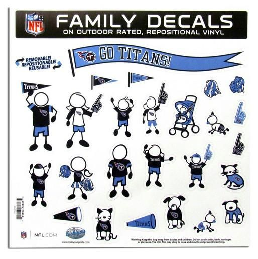 6b9f30c0aec Tennessee Titans Decal 11x11 Family Sheet Special Order