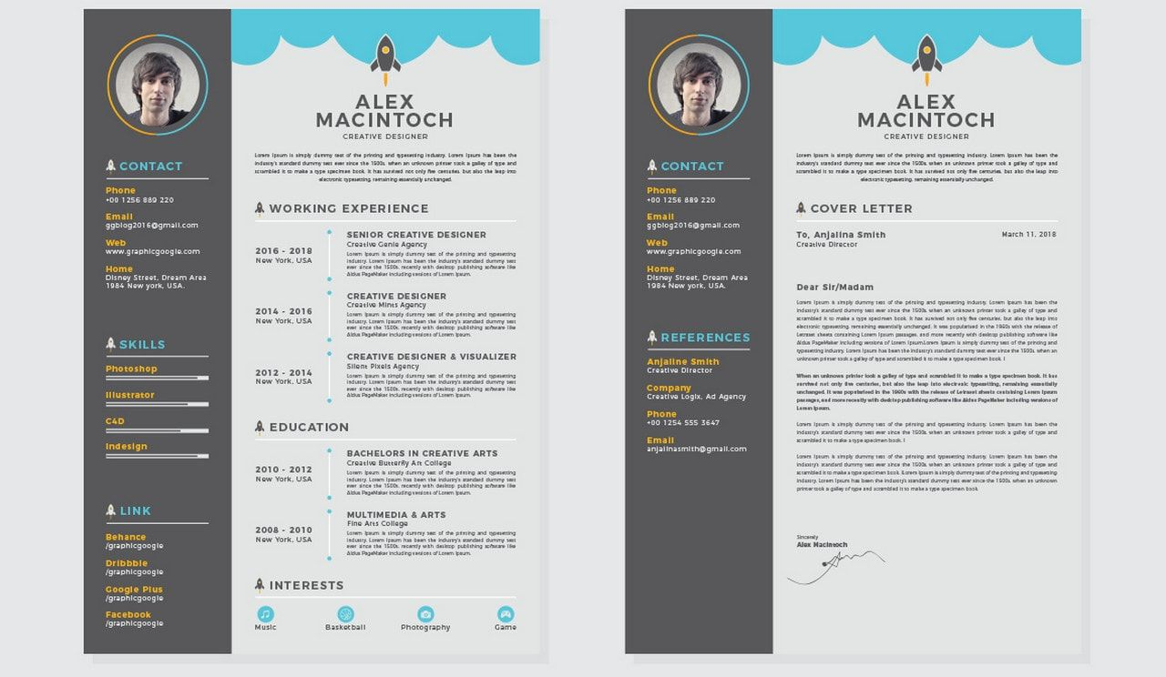 Free and BeautifullyDesigned Resume Templates Unique