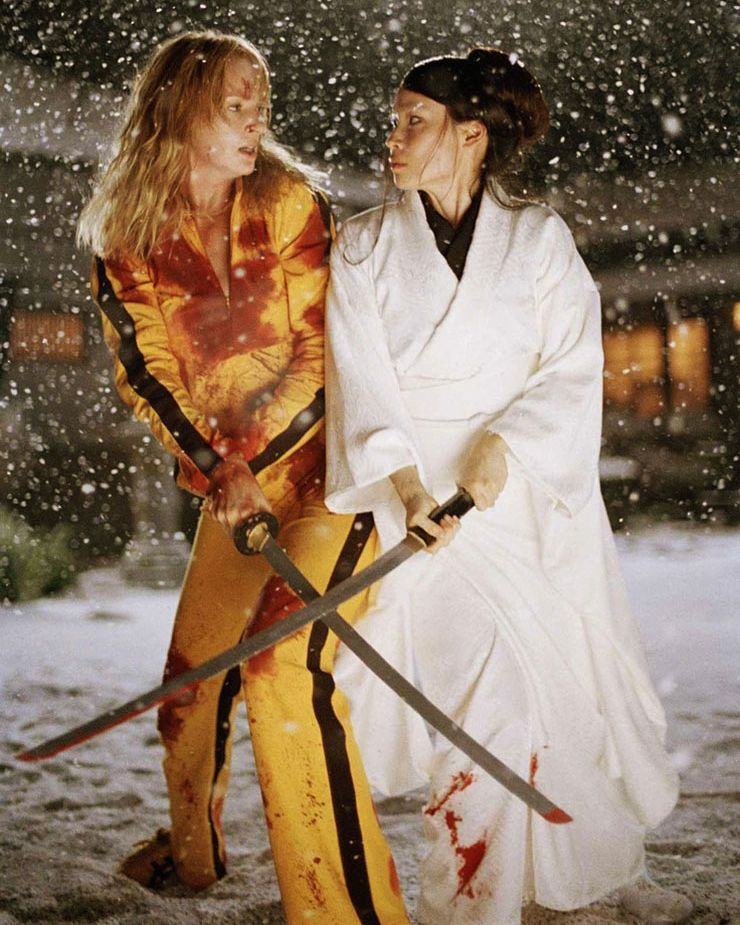 KILL BILL POSTER MOVIE FILM TV GUNS SWORDS WEAPONS VIOLENCE  ART A3 A4 SIZE