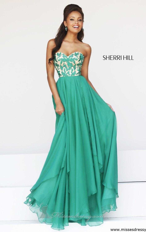 Emerald green prom dress  Sherri Hill  by Sherri Hill  Prom   Pinterest  Prom