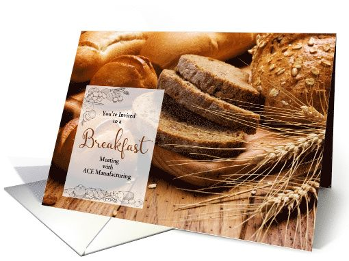Breakfast Meeting Invitation - Fresh Baked Breads card Breads - fresh invitation meeting