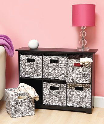 Etonnant The Stylish 6 Bin Animal Print Storage Unit Looks Good In Any Room Of The