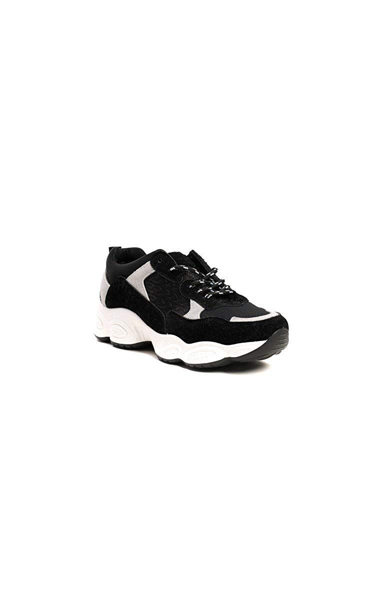 acd4fb8a11af3 Ikrush Womens Jayden Chunky Arched Sport Trainer Black: Amazon.co.uk ...