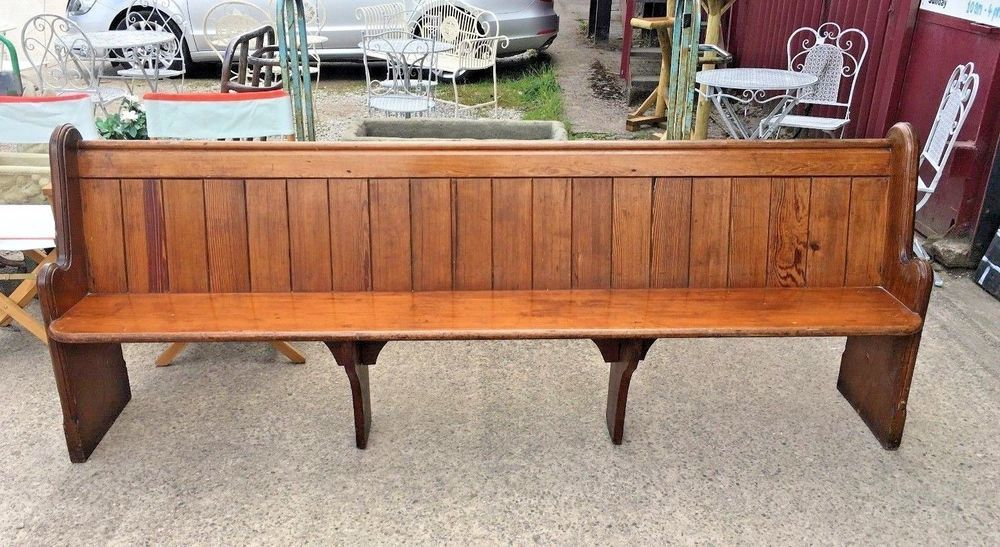 8 Ft Church Bench Pew Solid Wood Settle 6 Seater