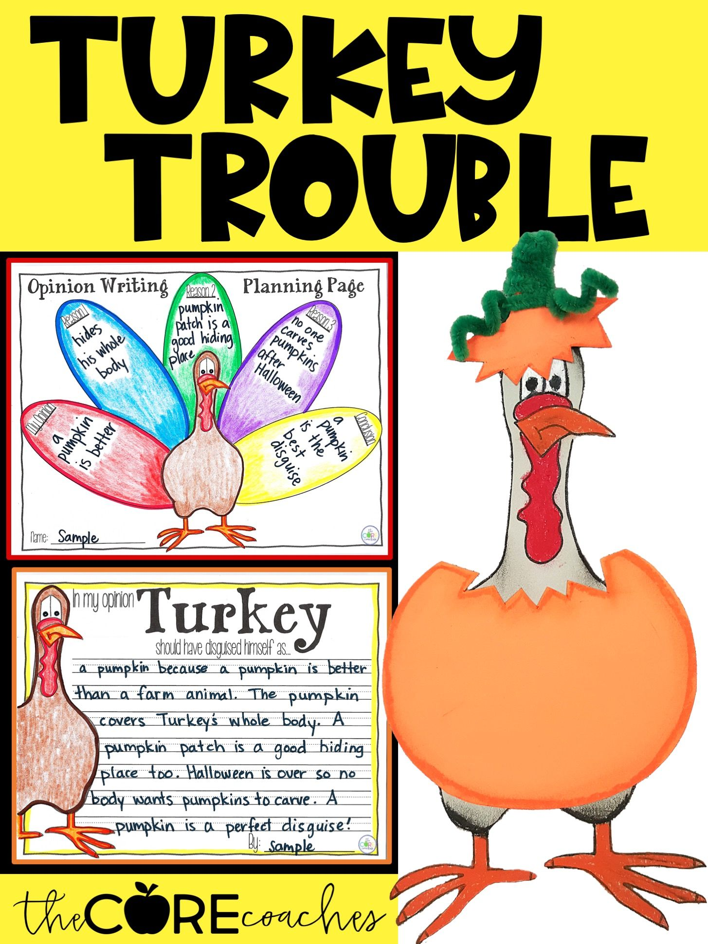 Turkey Trouble Interactive Read Aloud Lesson Plans And