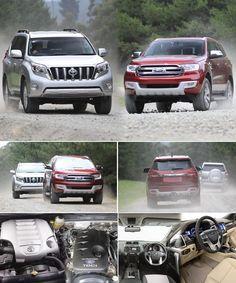 The Comparison – 2015 #Toyota #Land_Cruiser Prado v 2015 #Ford_Everest For more info visit http://www.reconditionengines.co.uk/blog/the-comparison-2015-toyota-land-cruiser-prado-v-2015-ford-everest/