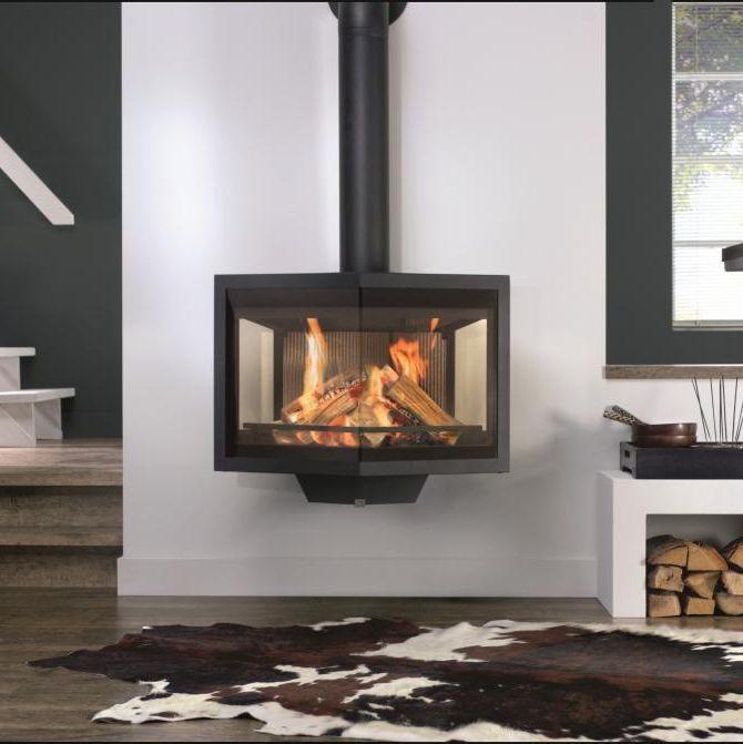 po le bois contemporain 3 faces en c ramique. Black Bedroom Furniture Sets. Home Design Ideas