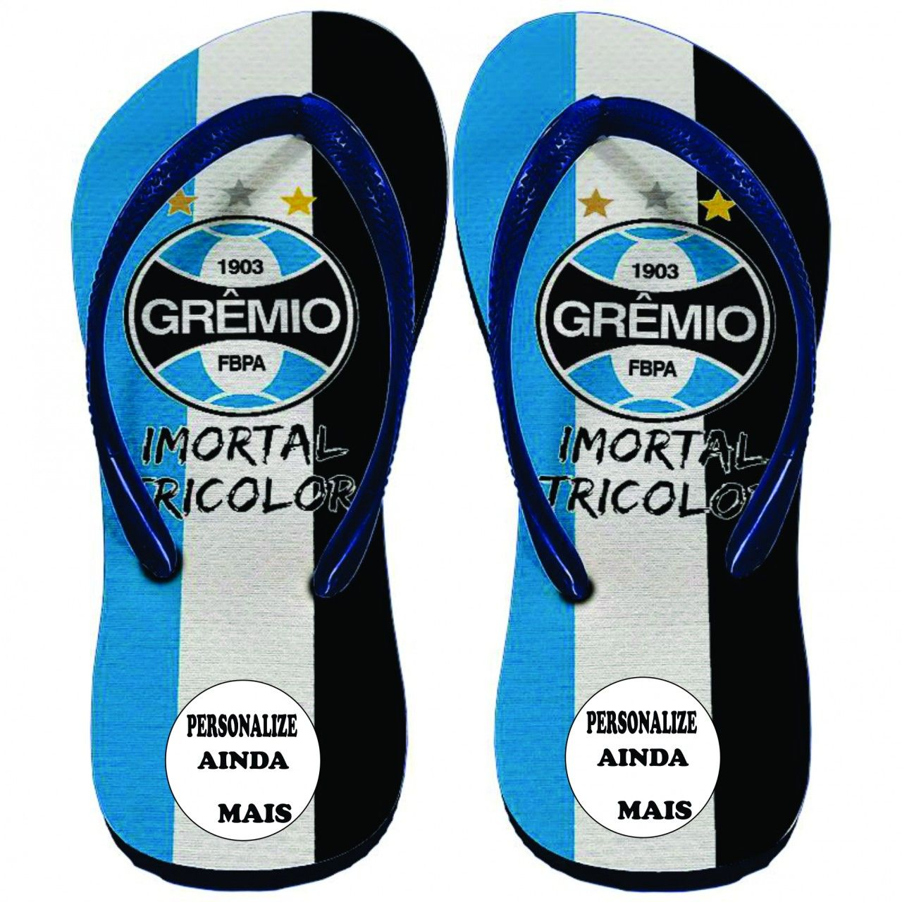Chinelo Grêmio Foot-Ball Porto Alegrense - Exclusiva  69d731fde0295