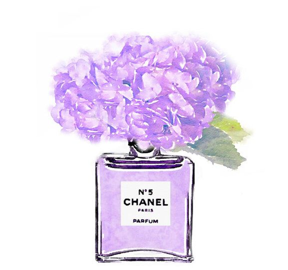 Fashion Illustration Sketches, Perfume Bottles, Watercolor