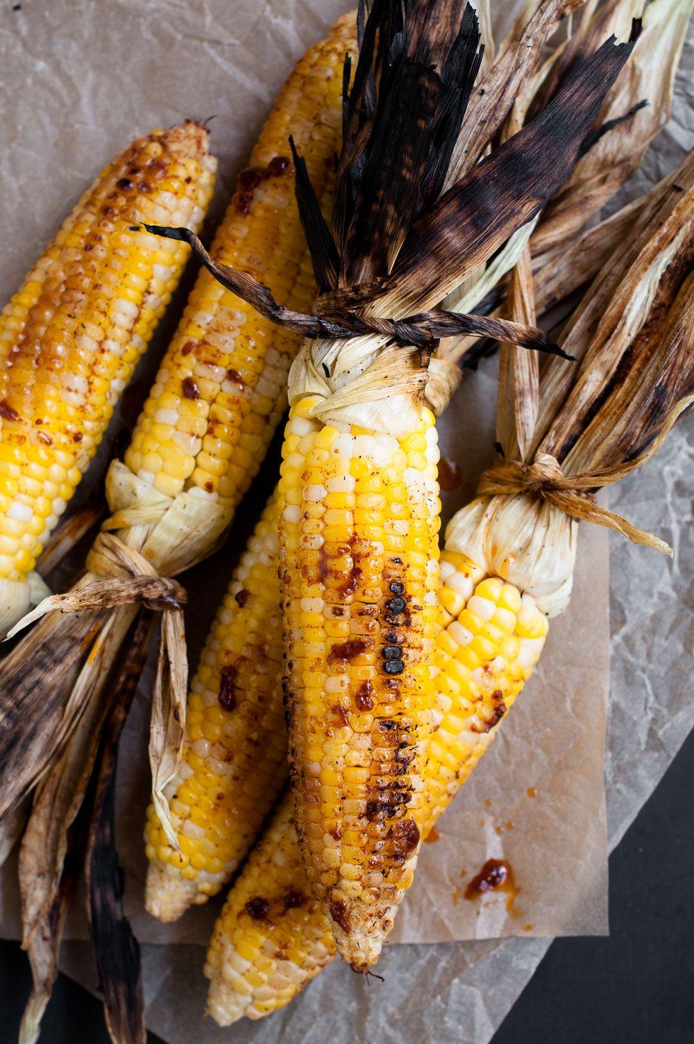 Grilled Corn with Harissa & Honey   Minimally Invasive