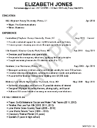 Sample Resumes  University Career Services  Ethan
