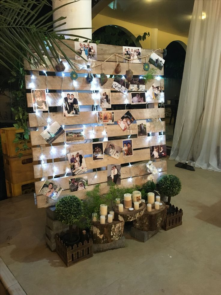 PALLET DECORATED WITH PHOTOS - #decorated #pallet #photos - #decoration #schoolparties