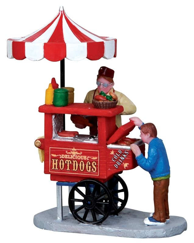 hot dog, cart, carnival, food stand by Lemax Collections
