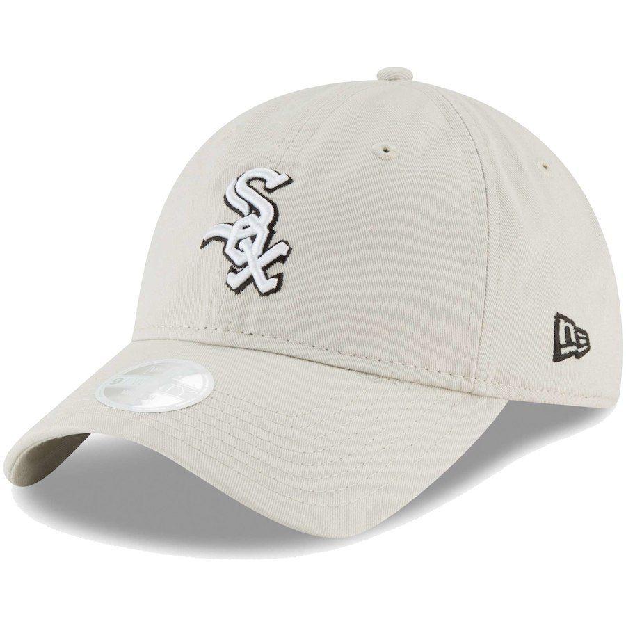 Women s Chicago White Sox New Era Cream Core Classic Twill 9TWENTY  Adjustable Hat d541e912f7