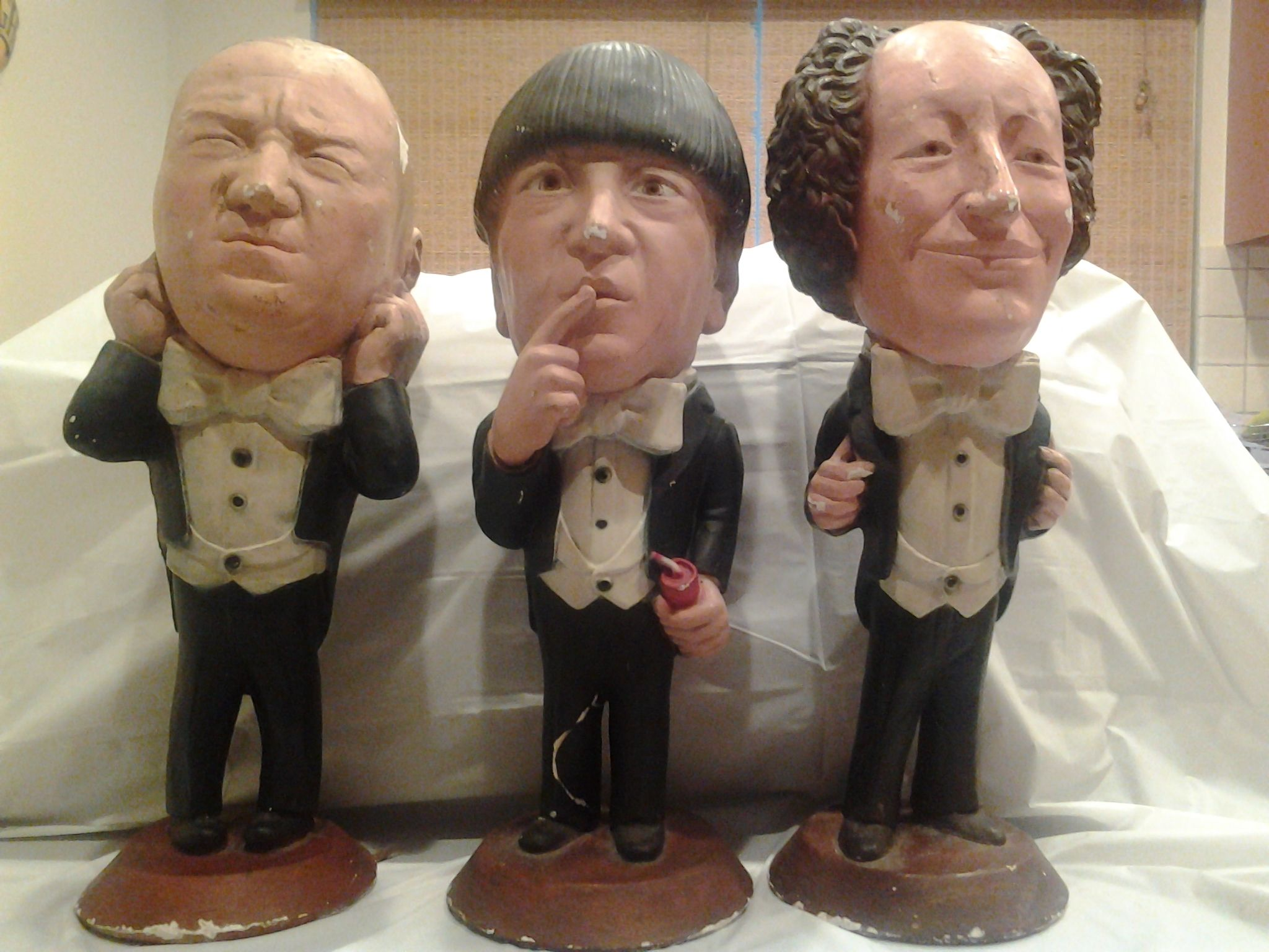 Three Stooges Map Of Europe.Three Stooges Figurines Could These Be More Chandler Across The