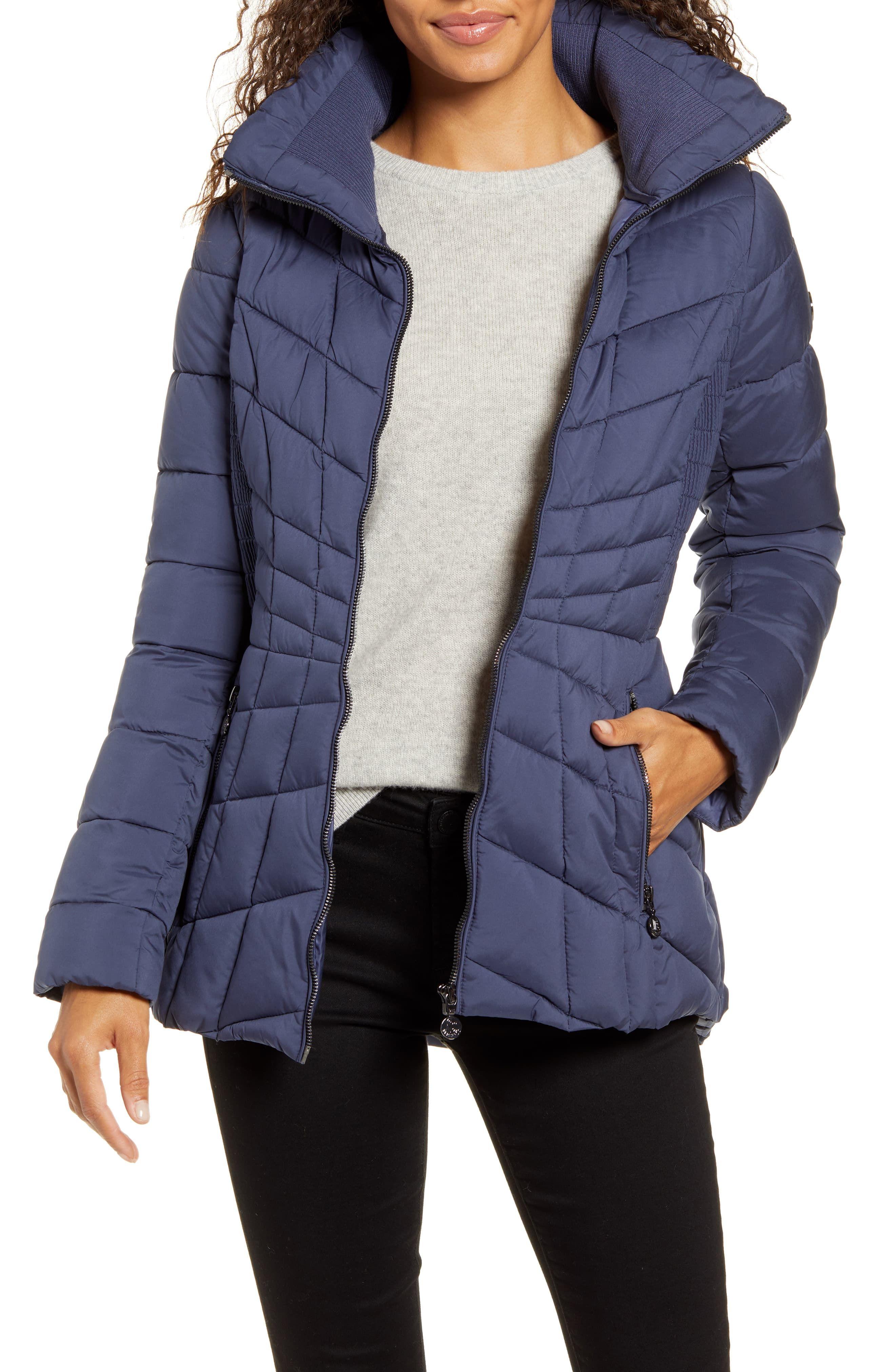 Bernardo Packable Ecoplume Coat Regular Petite Nordstrom Denim Outerwear Nordstrom Outfit Quilted Puffer Jacket [ 4048 x 2640 Pixel ]