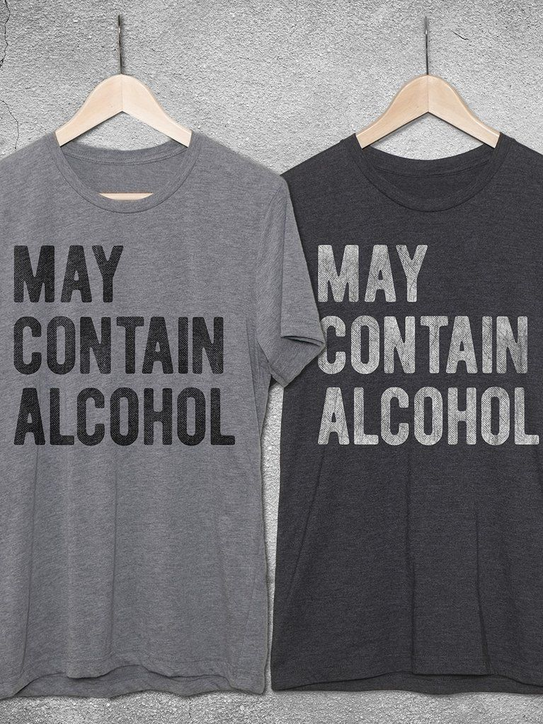 2dd0c30ae00 May Contain Alcohol vintage graphic tee by Hello Floyd. Funny tshirts for  men and women
