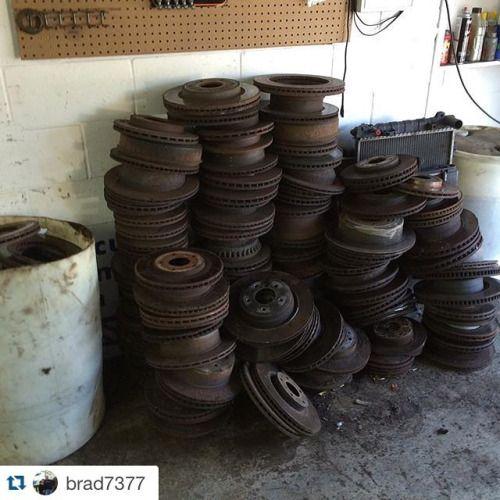 #Repost @brad7377 with @repostapp.  #scrap #rotors #junk...