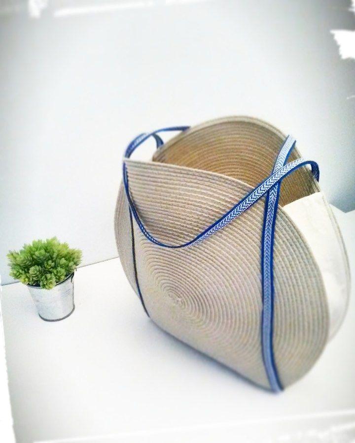 comment faire un panier rond pour l 39 t couture couture sac couture et coudre. Black Bedroom Furniture Sets. Home Design Ideas