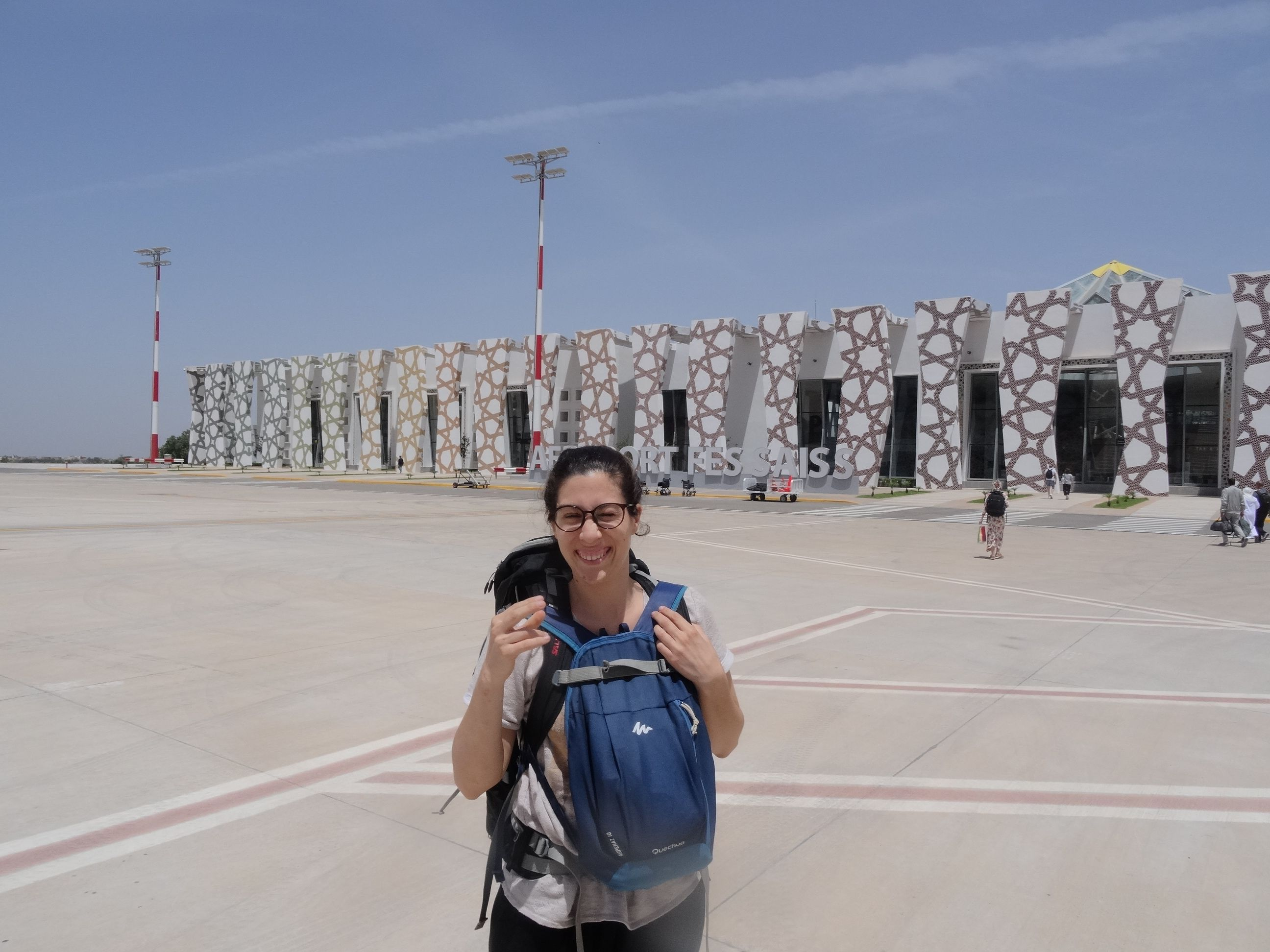 Llegando al aeropuerto de Fez