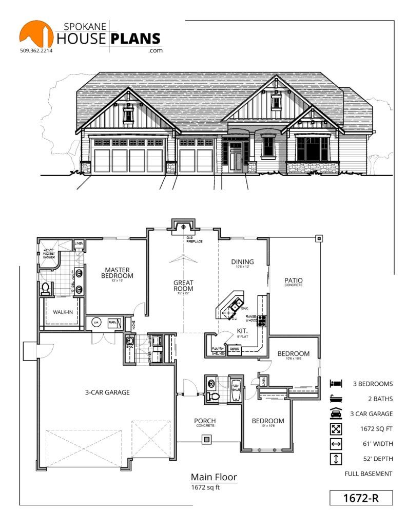 1672-R   Spokane House Plans   Mediterranean house plans ... on 1960 raised ranch floor plans, ranch house plans 1950s, cool ranch home plans, home walk out ranch house plans, single story craftsman house plans, ranch contemporary house plans, ranch homes with front porches, best rambler home plans, country ranch house plans, ranch split level house plans, craftsman ranch house plans, simple rambler floor plans, two-story luxury home floor plans, ranch open-concept house plans, ranch house plans 3 car garage with basement, rambler style home plans, simple small house floor plans, secret passage house plans, ranch duplex house plans, angled house floor plans,