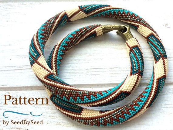 Bead Crochet Pattern Aztec Native American Seed Bead Knitted