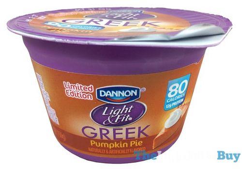 REVIEW: Limited Edition Dannon Light U0026 Fit Pumpkin Pie Greek Yogurt
