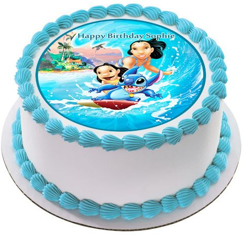 Lilo & Stitch Edible Birthday Cake Topper