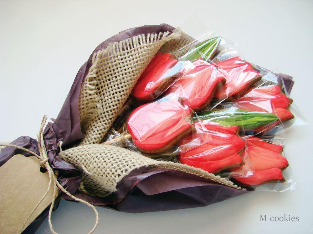 Cookies / Buquê de tulipas