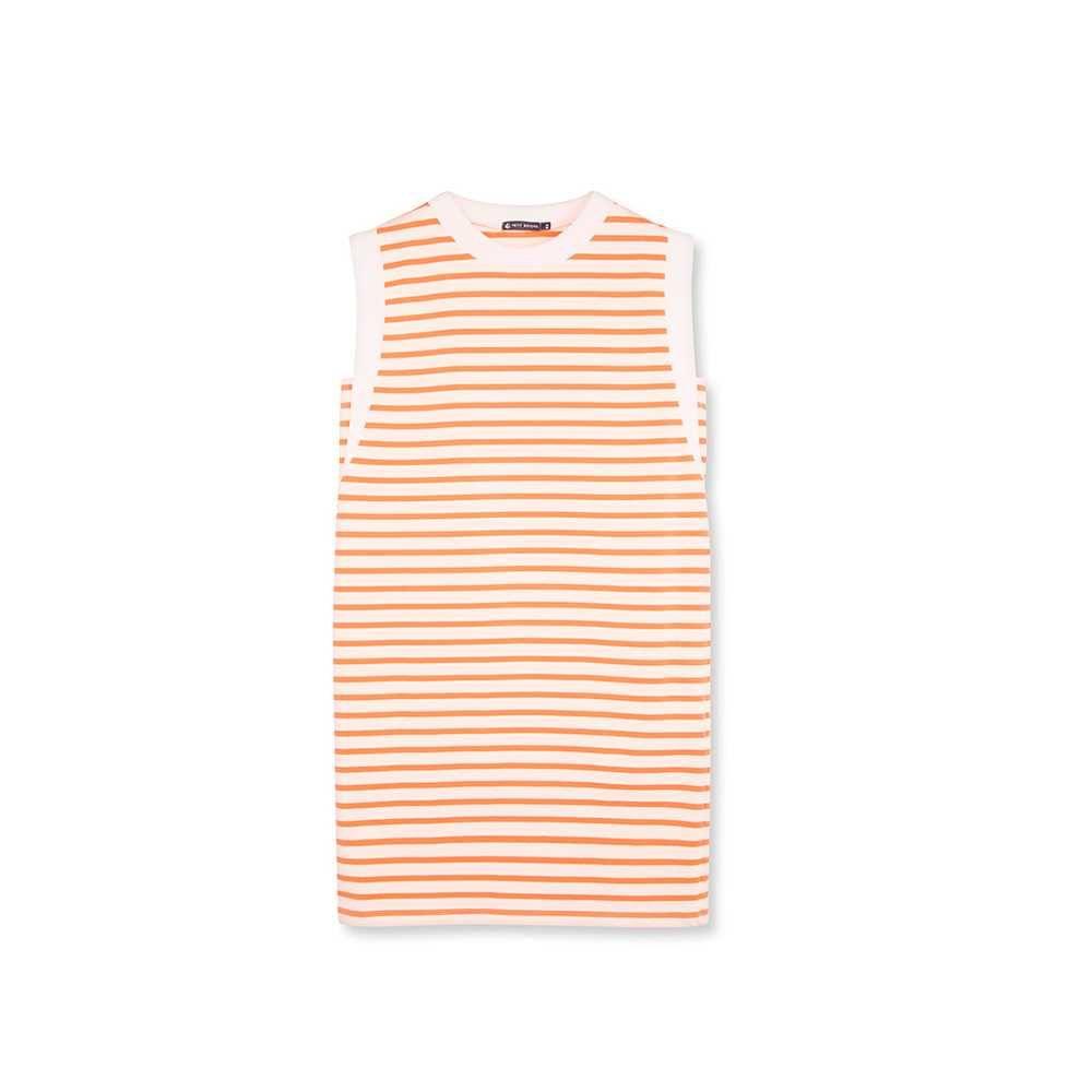Peach and cream stripes - pale colours - Petit Bateau summer dress