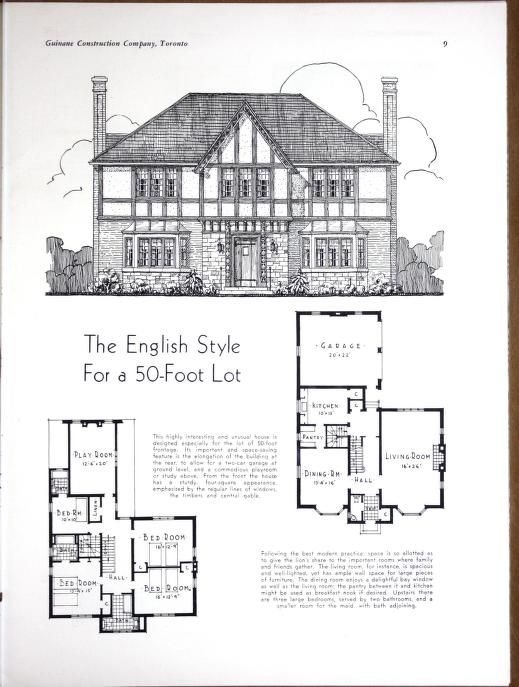 Planning Building Amp Financing The Home Architectural Floor Plans Vintage House Plans House Plans