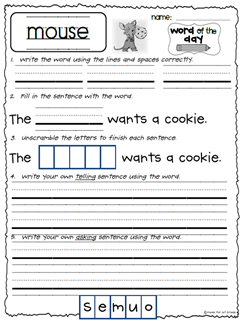 1000+ images about form a sentence worksheets on Pinterest ...