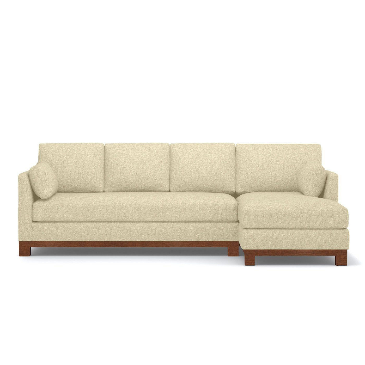 Outstanding Avalon 2Pc Sectional Sofa Leg Finish Pecan Inzonedesignstudio Interior Chair Design Inzonedesignstudiocom