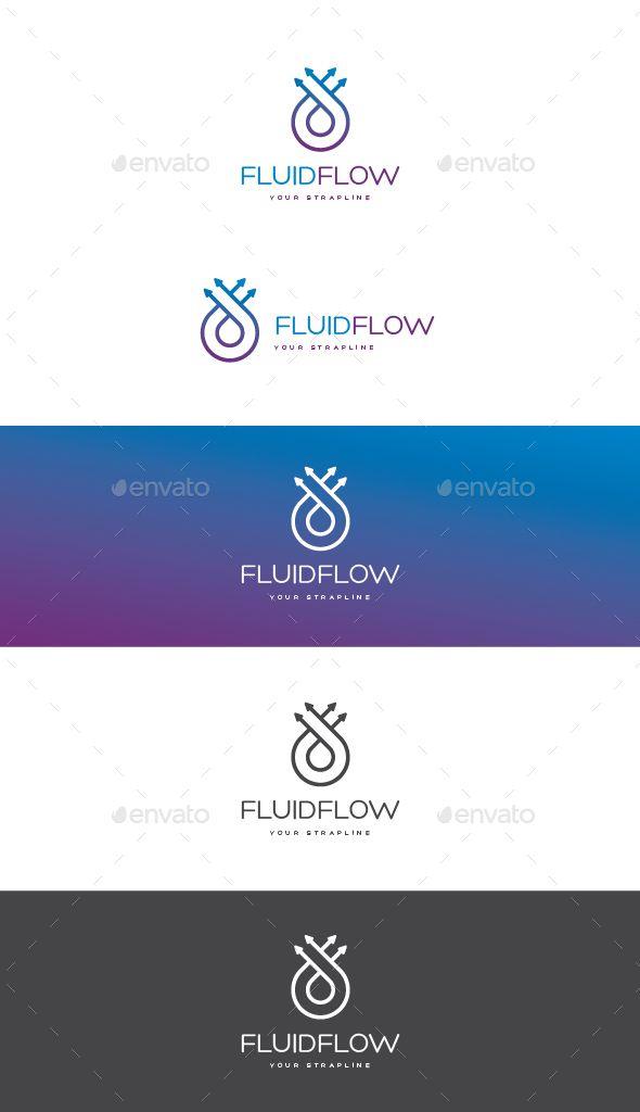 Fluid Flow Logo By Creativebeat A Modern Logo Template Featuring A